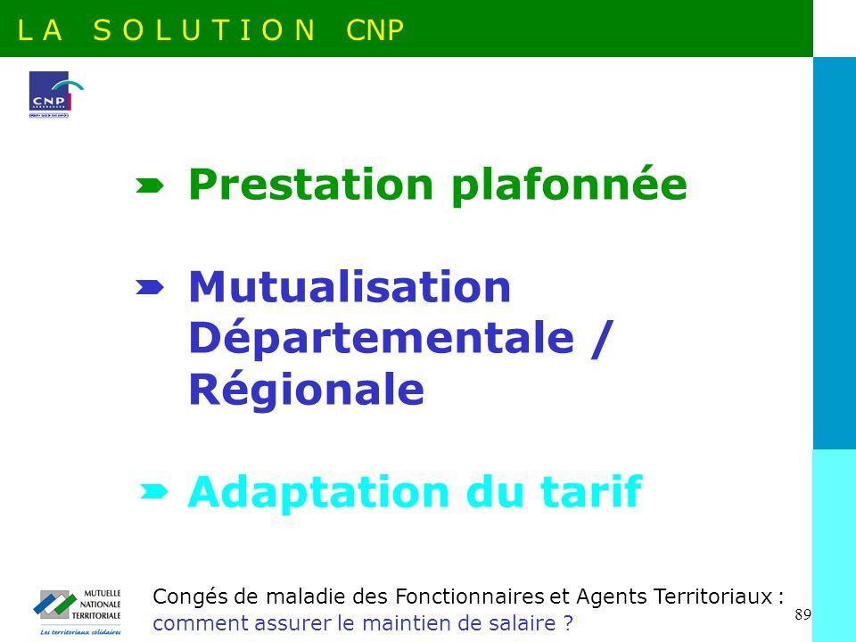 Mutualisation Départementale / Régionale