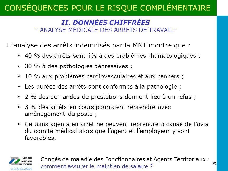 II. DONNÉES CHIFFRÉES - ANALYSE MÉDICALE DES ARRETS DE TRAVAIL-