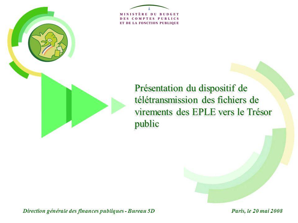 Présentation du dispositif de télétransmission des fichiers de virements des EPLE vers le Trésor public