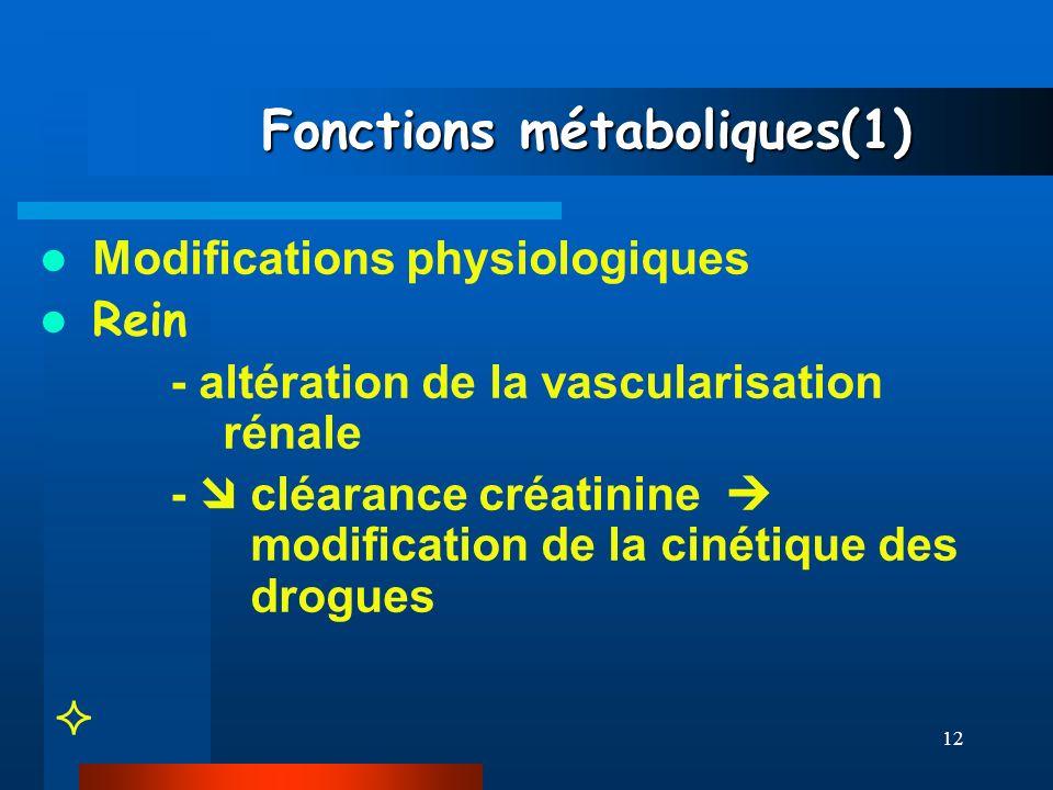 Fonctions métaboliques(1)