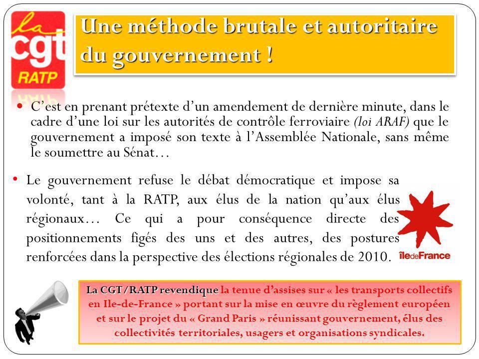 Une méthode brutale et autoritaire du gouvernement !