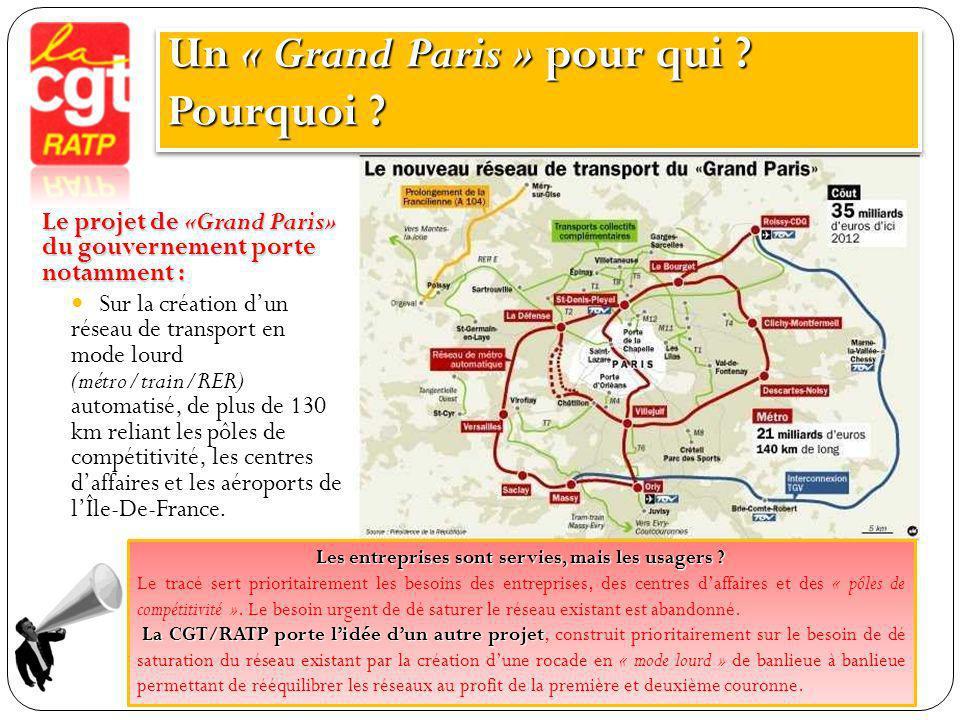 Un « Grand Paris » pour qui Pourquoi