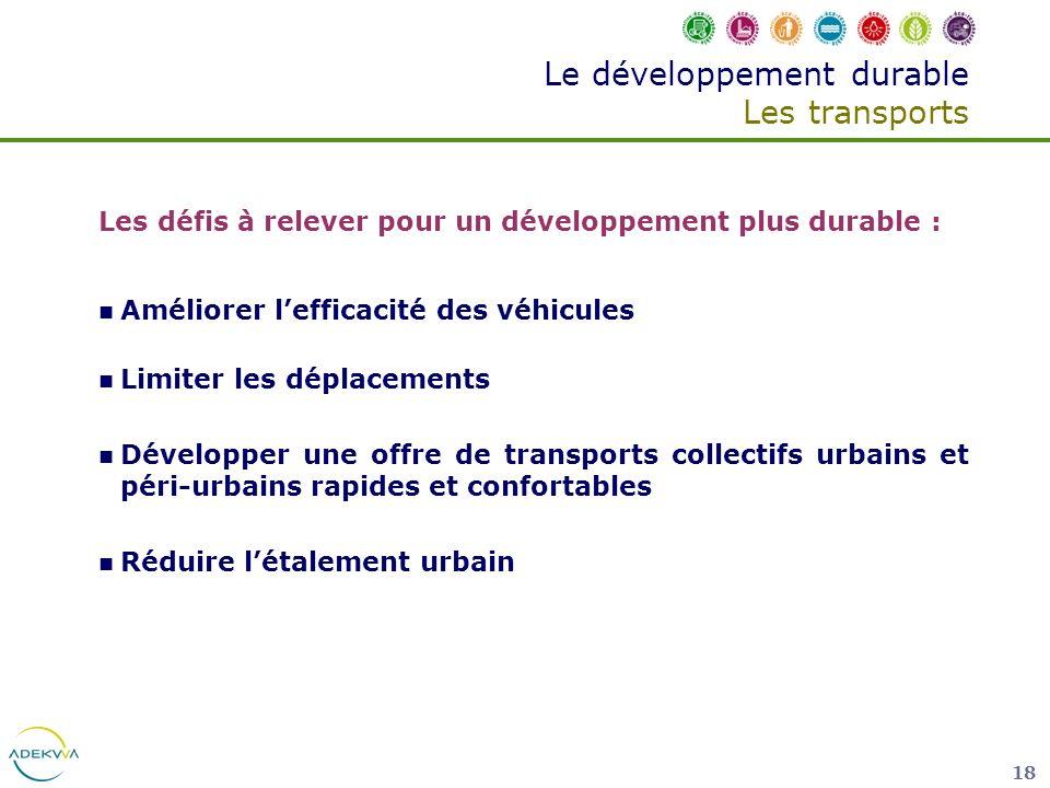 Le développement durable Les transports