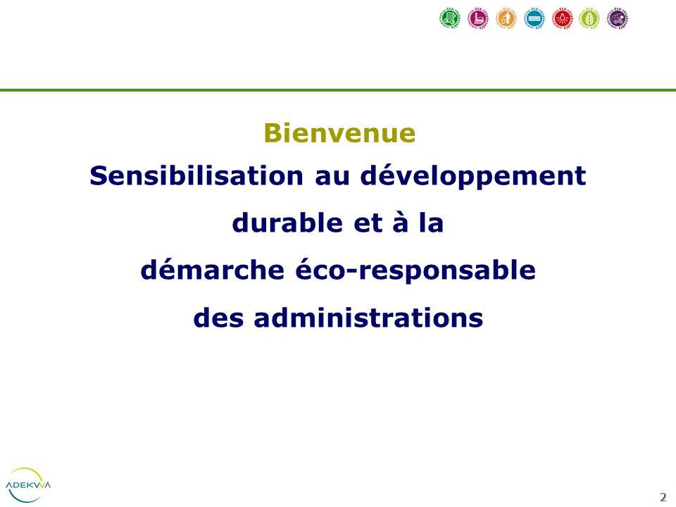 Sensibilisation au développement démarche éco-responsable