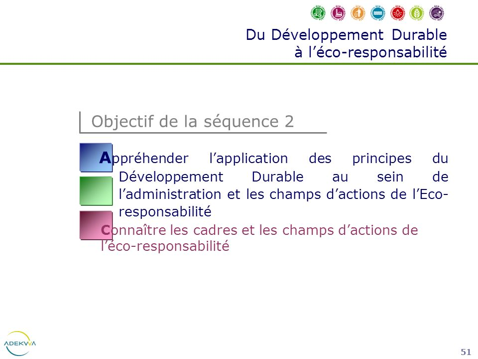 Du Développement Durable à l'éco-responsabilité
