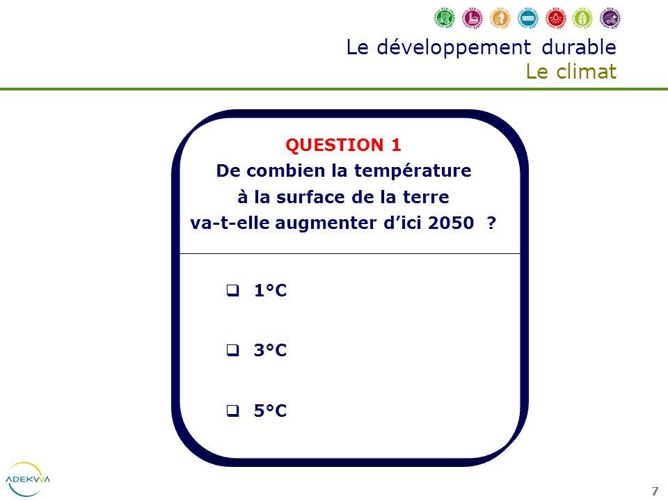 Le développement durable Le climat