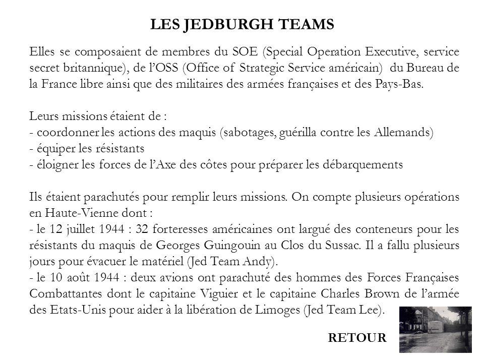 LES JEDBURGH TEAMS