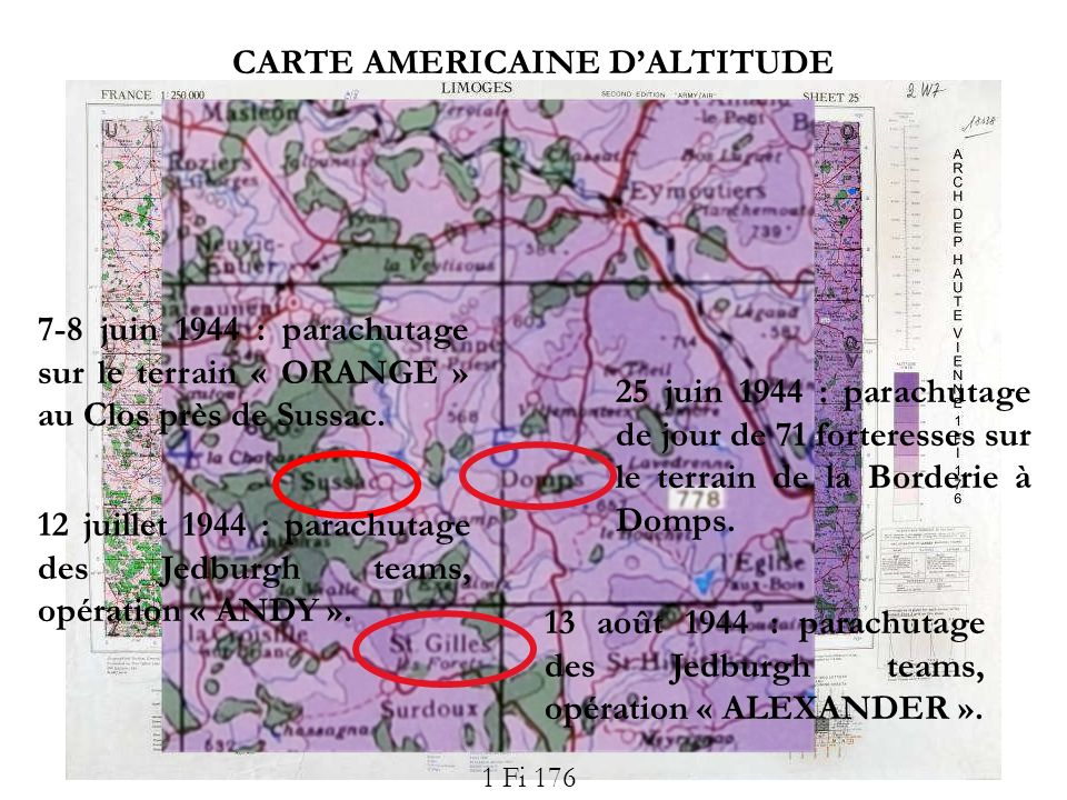 CARTE AMERICAINE D'ALTITUDE