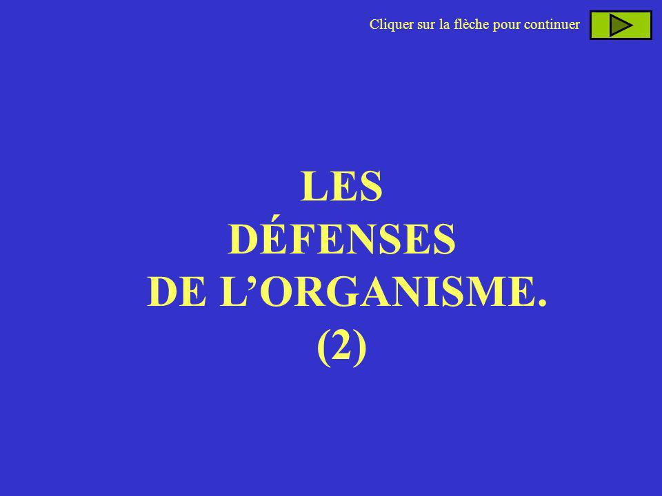 LES DÉFENSES DE L'ORGANISME.
