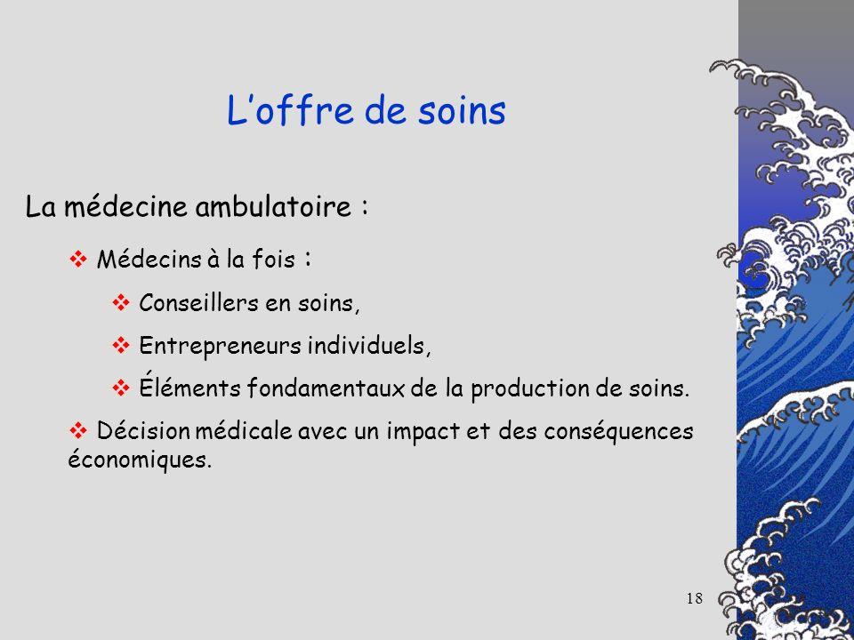 L'offre de soins La médecine ambulatoire : Médecins à la fois :