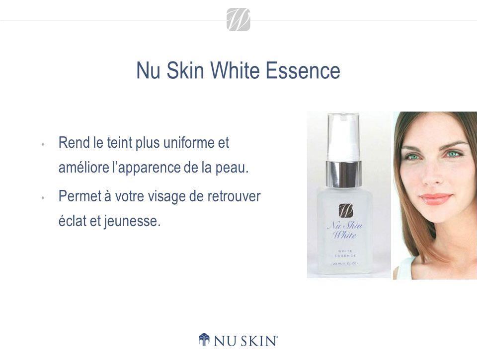 Nu Skin White Essence Rend le teint plus uniforme et améliore l'apparence de la peau.