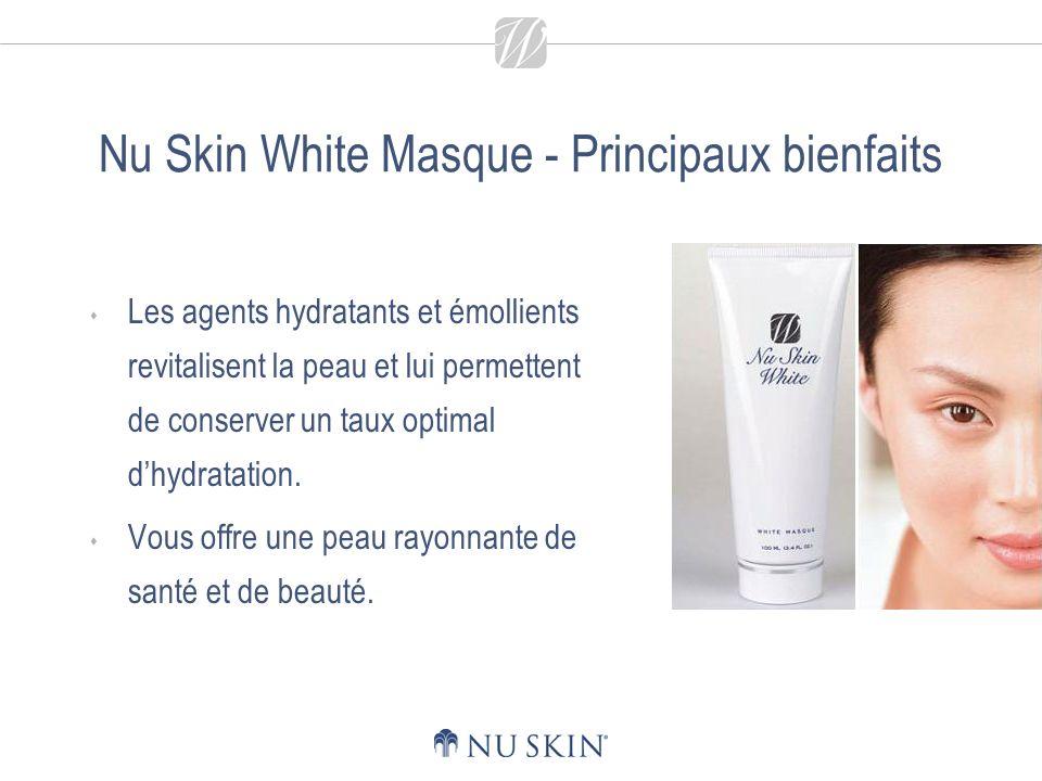Nu Skin White Masque - Principaux bienfaits