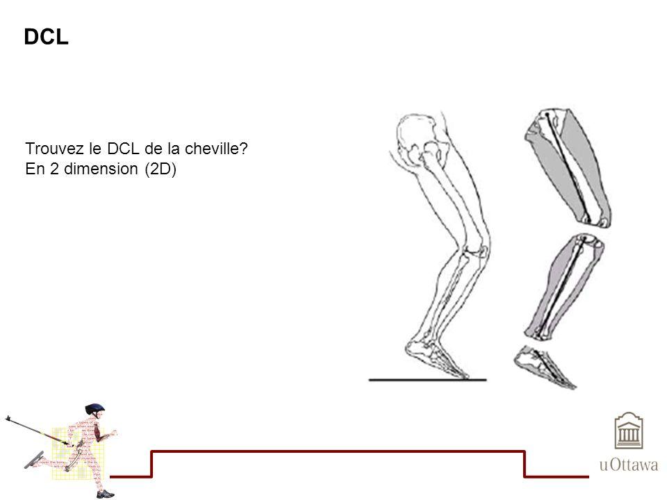 DCL Trouvez le DCL de la cheville En 2 dimension (2D)