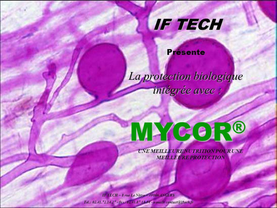 MYCOR® IF TECH La protection biologique intégrée avec : Présente