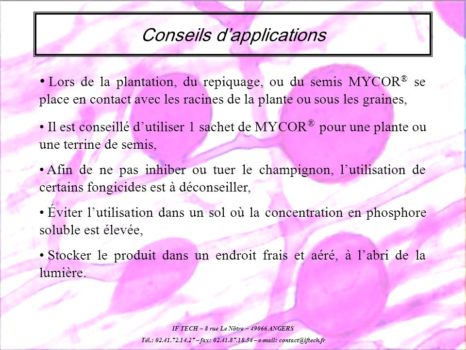 Conseils d'applications