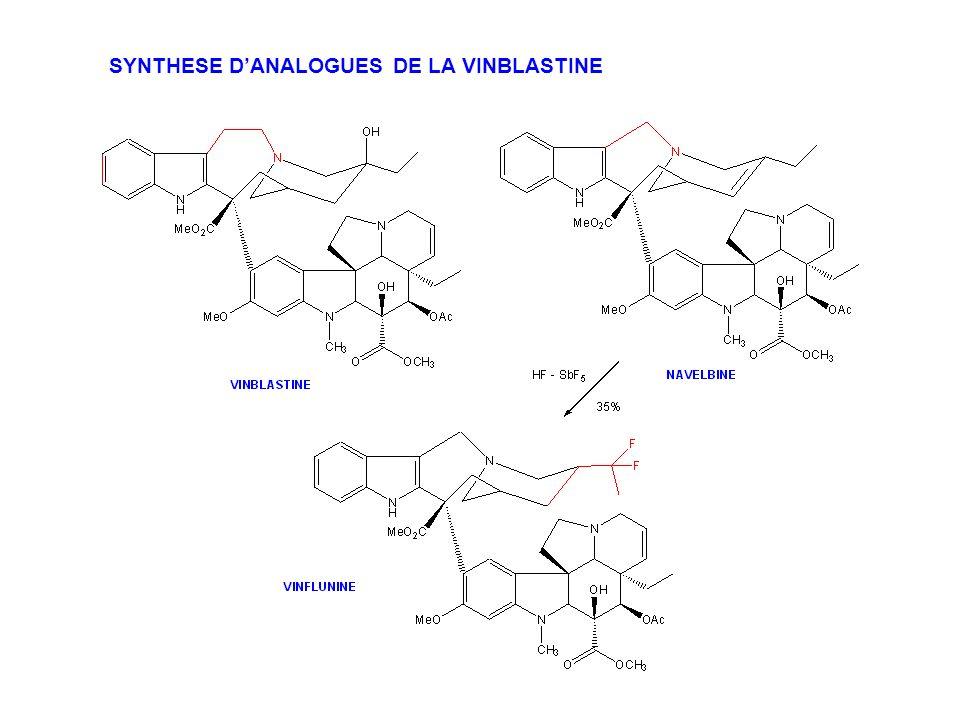 SYNTHESE D'ANALOGUES DE LA VINBLASTINE