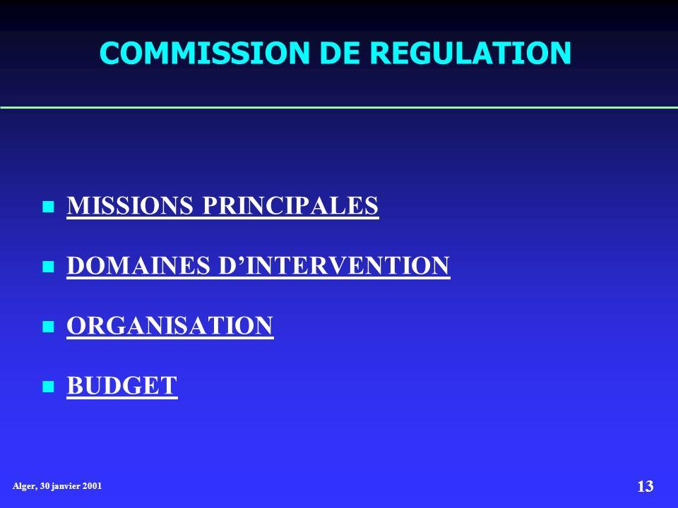 COMMISSION DE REGULATION