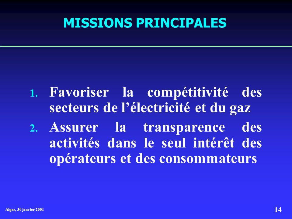 Favoriser la compétitivité des secteurs de l'électricité et du gaz