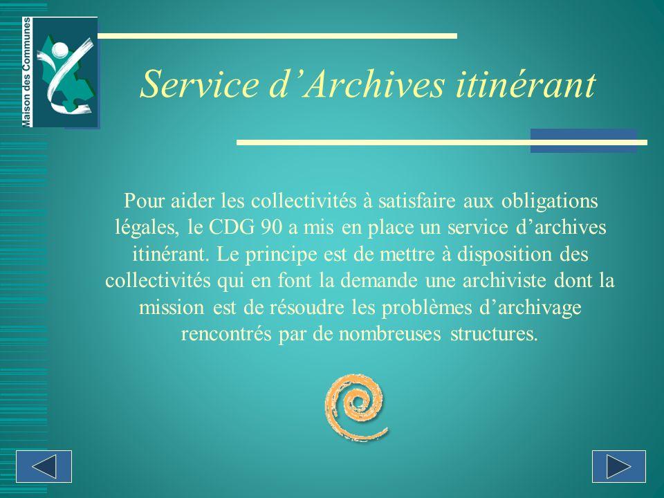 Service d'Archives itinérant