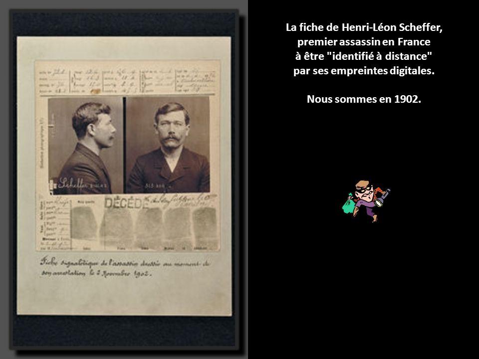 La fiche de Henri-Léon Scheffer, premier assassin en France