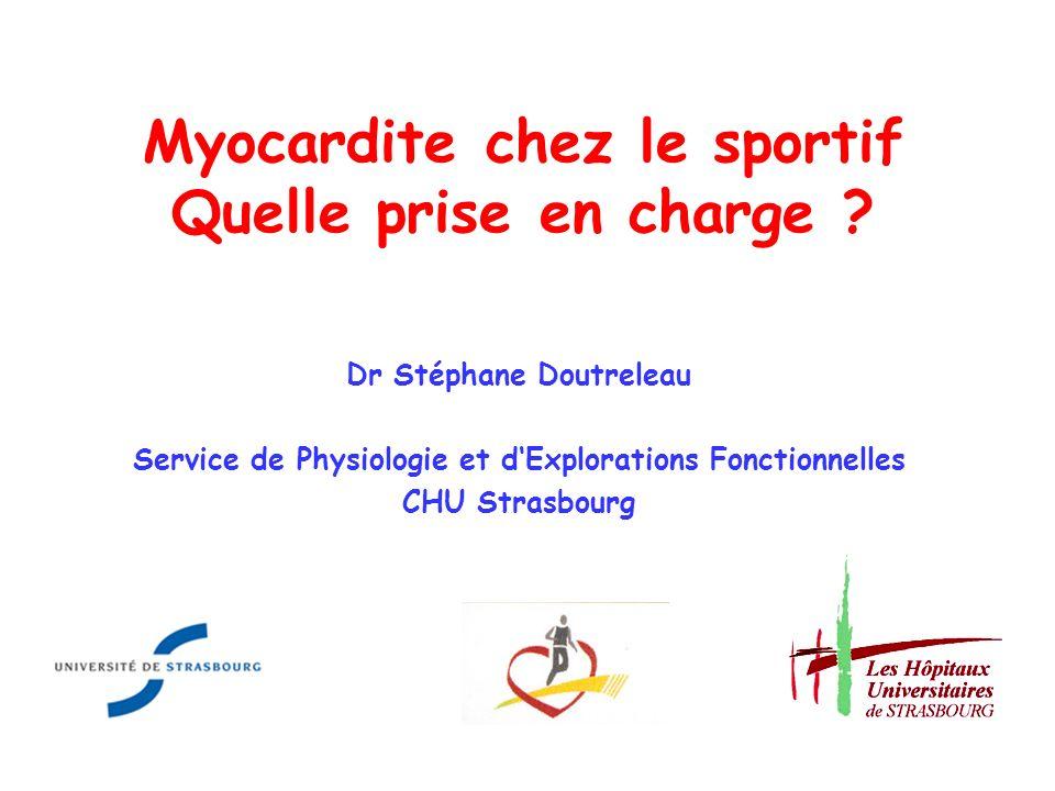 Myocardite chez le sportif Quelle prise en charge
