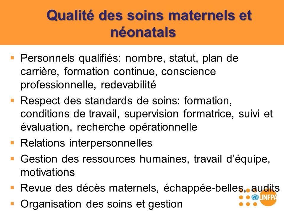 Qualité des soins maternels et néonatals