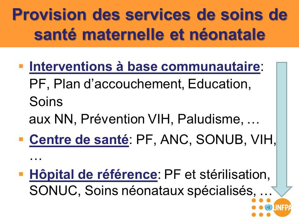 Provision des services de soins de santé maternelle et néonatale