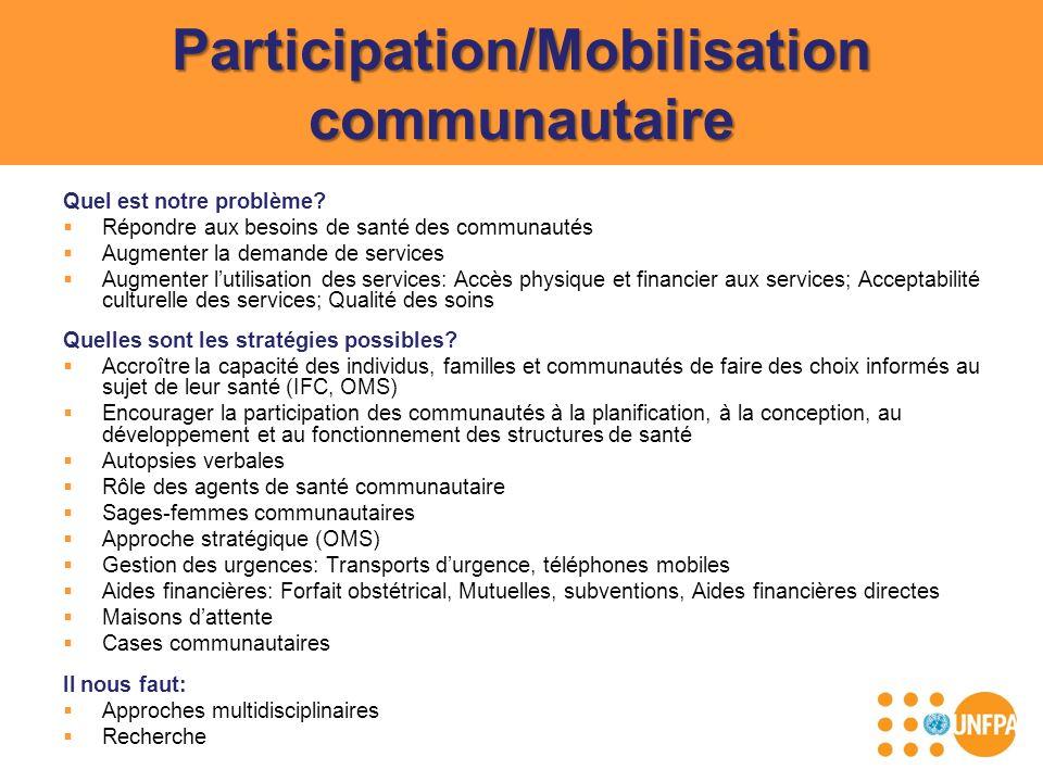 Participation/Mobilisation communautaire