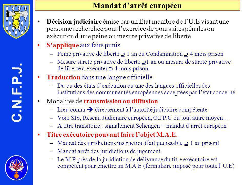 Mandat d'arrêt européen
