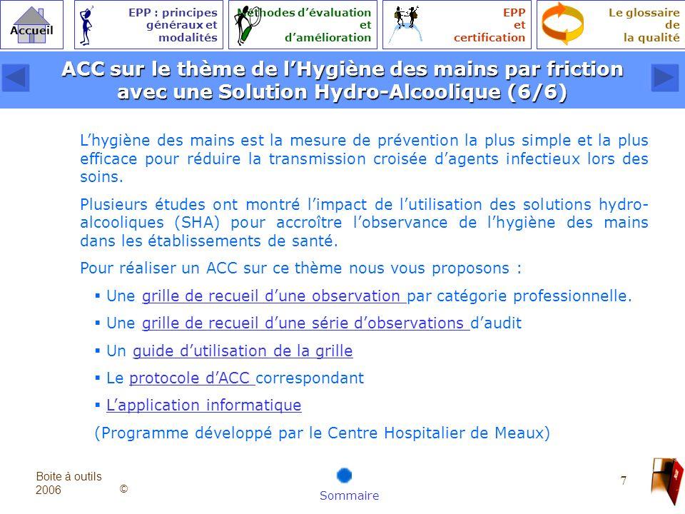 ACC sur le thème de l'Hygiène des mains par friction avec une Solution Hydro-Alcoolique (6/6)