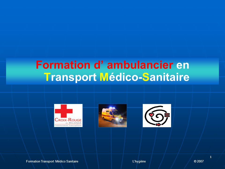 Formation d' ambulancier en Transport Médico-Sanitaire