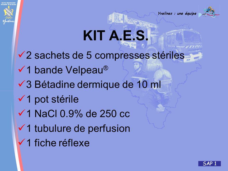 KIT A.E.S. 2 sachets de 5 compresses stériles 1 bande Velpeau®