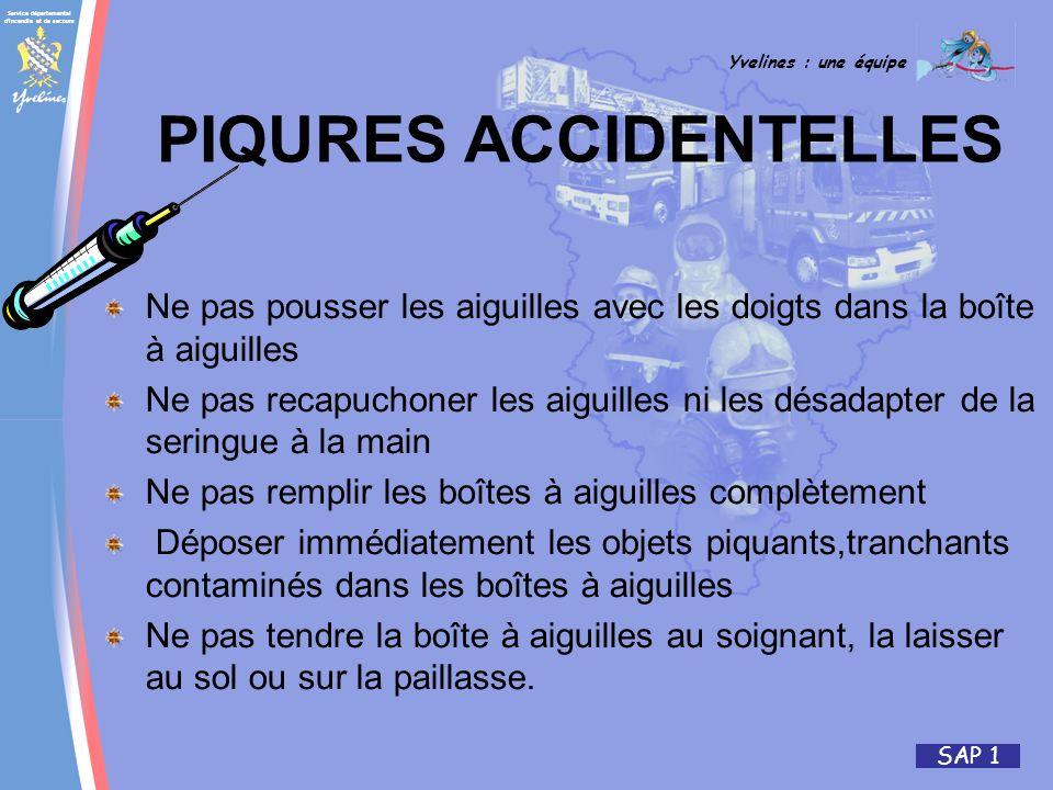 PIQURES ACCIDENTELLES