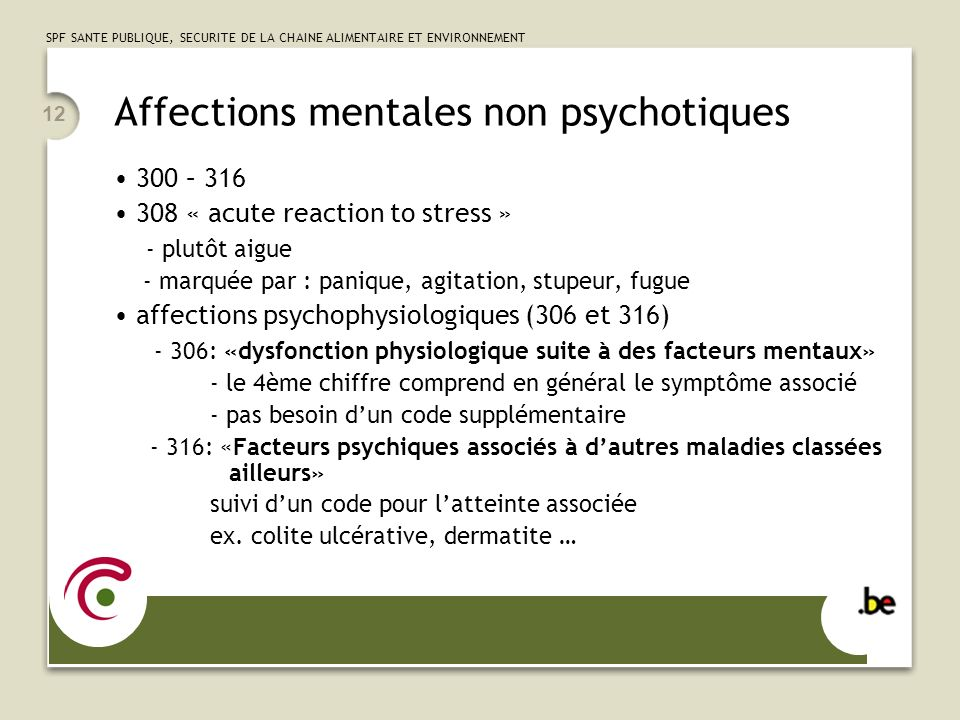 Affections mentales non psychotiques