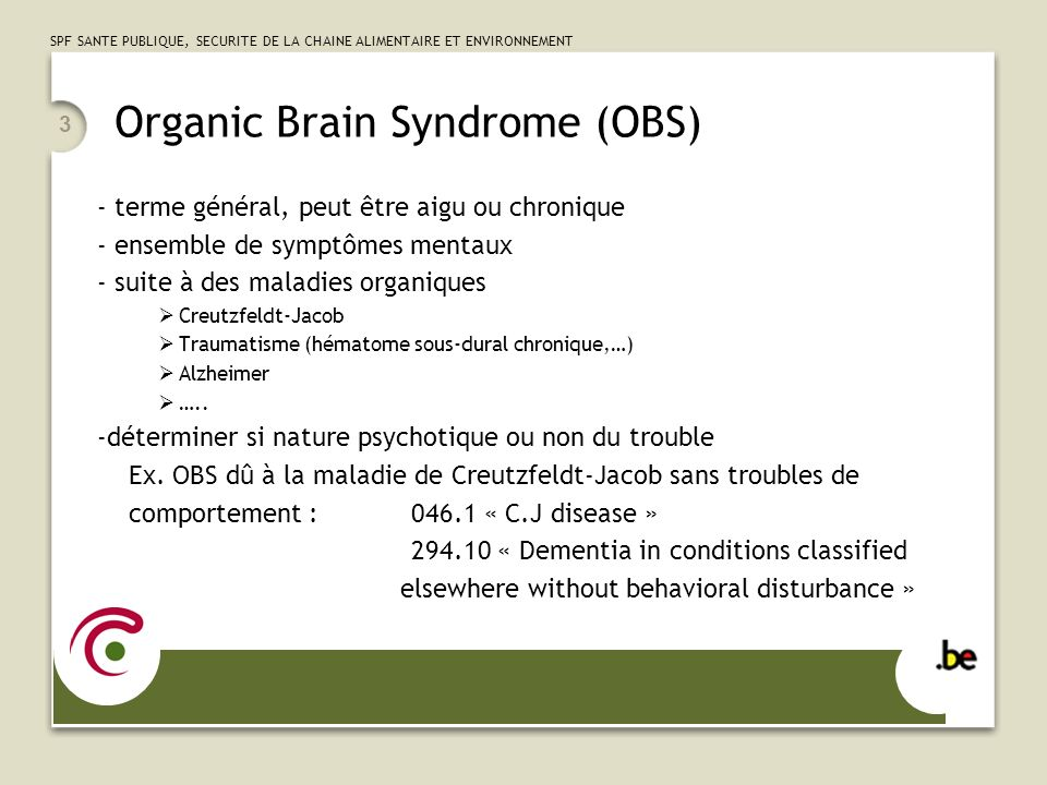 Organic Brain Syndrome (OBS)
