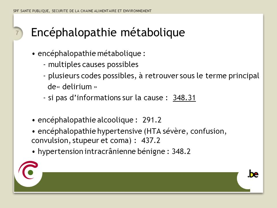 Encéphalopathie métabolique