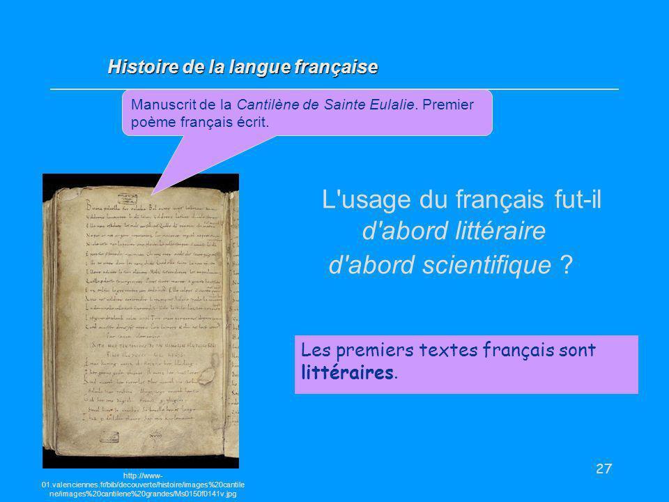 L usage du français fut-il