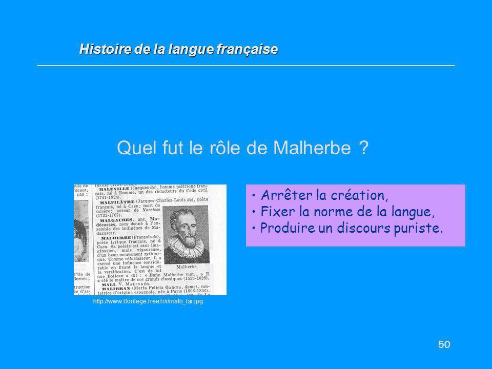 Quel fut le rôle de Malherbe