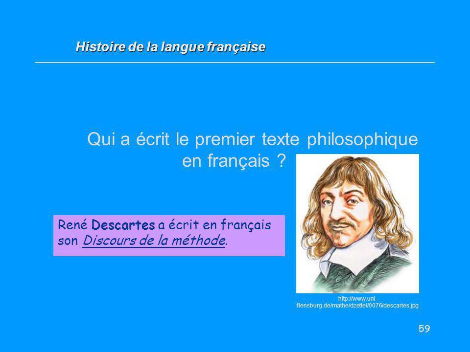 Qui a écrit le premier texte philosophique en français