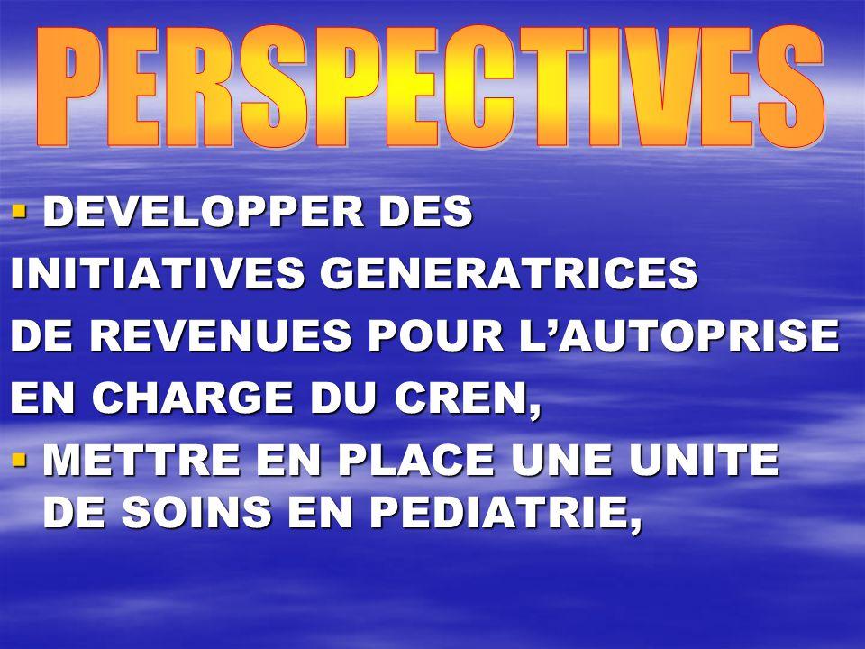 PERSPECTIVES DEVELOPPER DES. INITIATIVES GENERATRICES. DE REVENUES POUR L'AUTOPRISE. EN CHARGE DU CREN,
