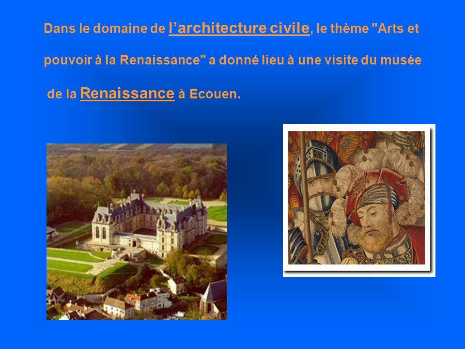 Dans le domaine de l'architecture civile, le thème Arts et