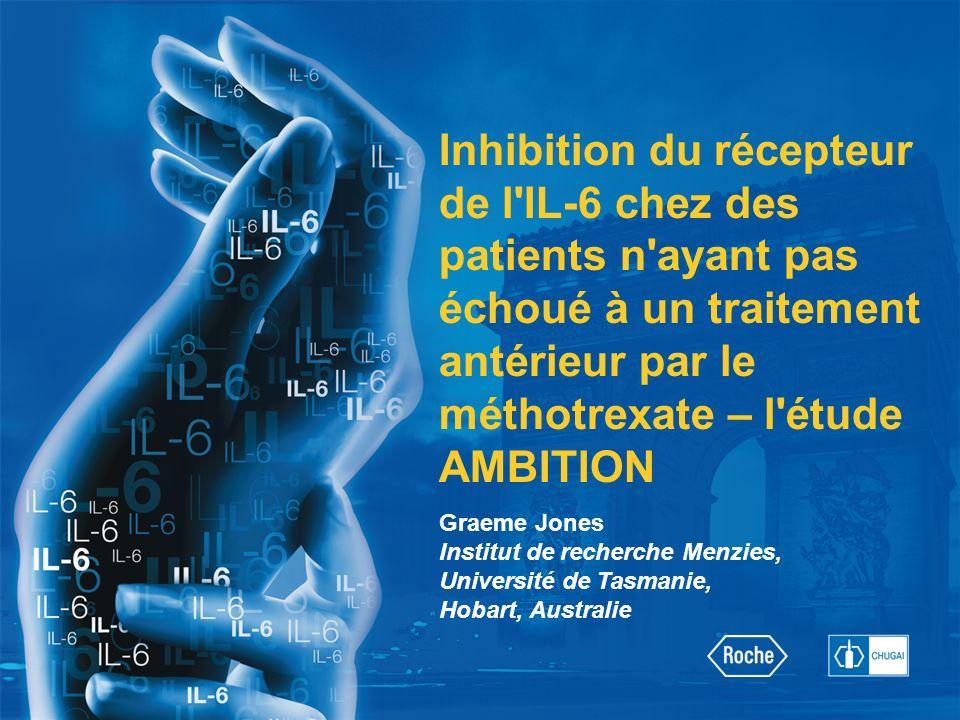 Inhibition du récepteur de l IL-6 chez des patients n ayant pas échoué à un traitement antérieur par le méthotrexate – l étude AMBITION