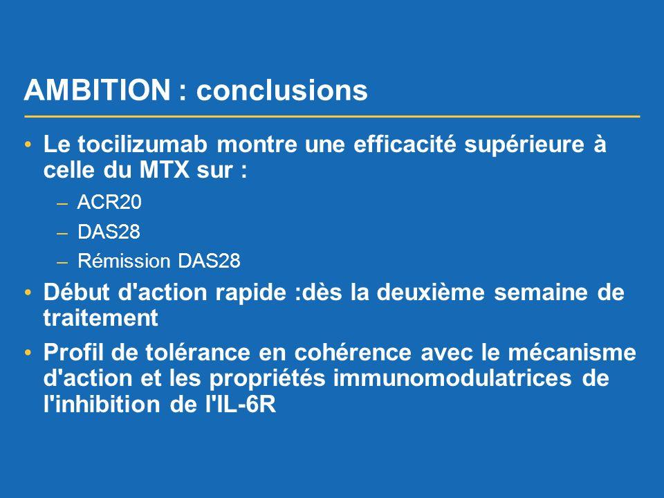 AMBITION : conclusions