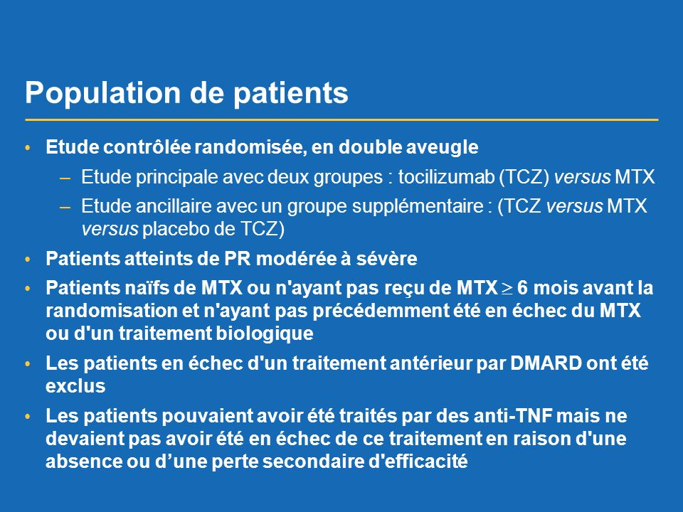 Population de patients