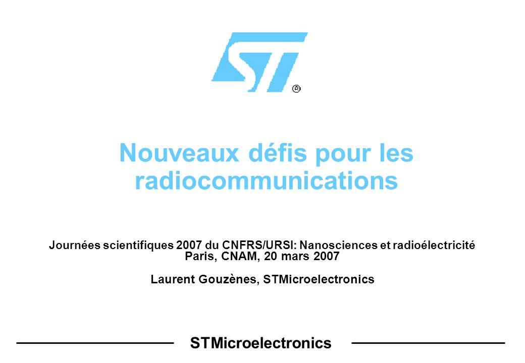 Nouveaux défis pour les radiocommunications