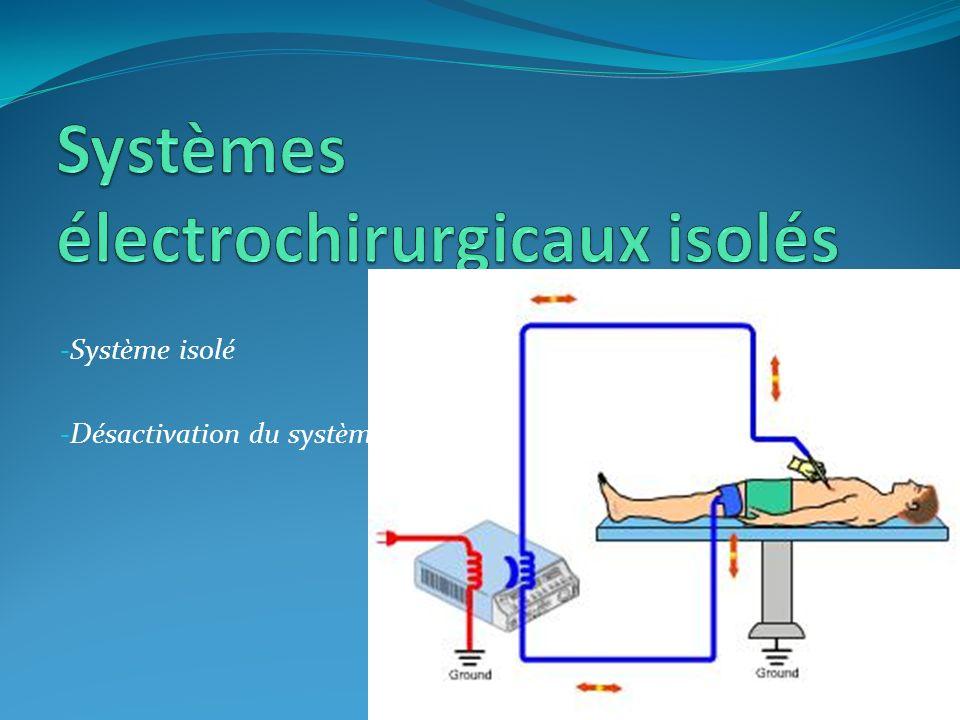 Systèmes électrochirurgicaux isolés