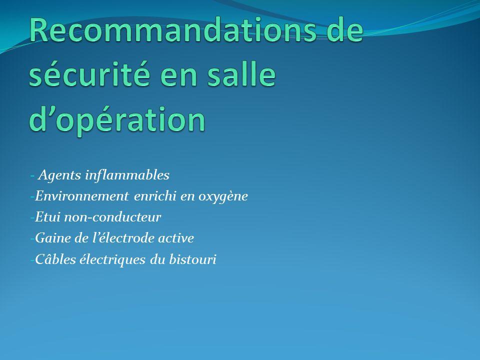 Recommandations de sécurité en salle d'opération