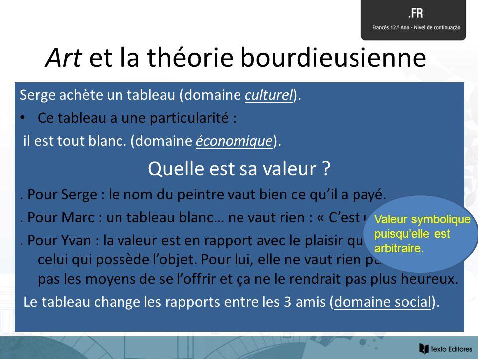 Art et la théorie bourdieusienne