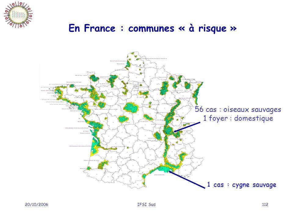 En France : communes « à risque »