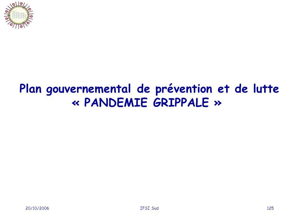 Plan gouvernemental de prévention et de lutte « PANDEMIE GRIPPALE »